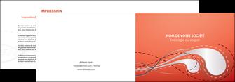 impression depliant 2 volets  4 pages  rouge couleur rouge orange MIF62014
