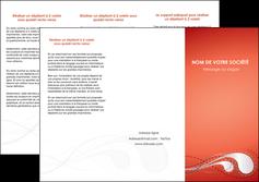 maquette en ligne a personnaliser depliant 3 volets  6 pages  rouge couleur rouge orange MIF62022