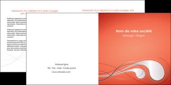 personnaliser maquette depliant 2 volets  4 pages  rouge couleur rouge orange MIF62026