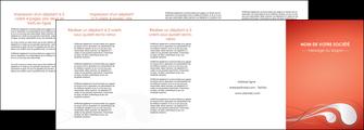 modele depliant 4 volets  8 pages  rouge couleur rouge orange MIF62040