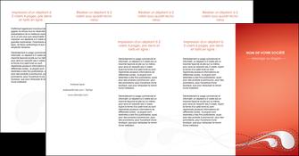personnaliser maquette depliant 4 volets  8 pages  rouge couleur rouge orange MIF62044