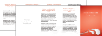 maquette en ligne a personnaliser depliant 4 volets  8 pages  rouge couleur rouge orange MIF62046