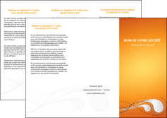 creation graphique en ligne depliant 3 volets  6 pages  orange abstrait abstraction MIS62074