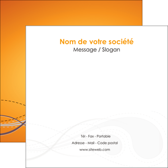 personnaliser modele de flyers orange abstrait abstraction MIS62080