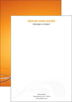 creer modele en ligne affiche orange abstrait abstraction MIS62090