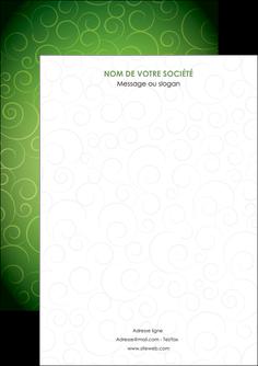 creer modele en ligne flyers vert vignette fonce MIF62160