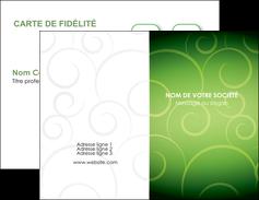 imprimerie carte de visite vert vignette fonce MLGI62168