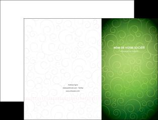 personnaliser modele de pochette a rabat vert vignette fonce MLIG62172