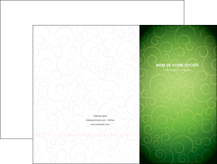personnaliser modele de pochette a rabat vert vignette fonce MIF62172