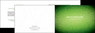 personnaliser maquette depliant 2 volets  4 pages  vert vignette fonce MIF62174