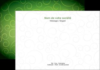 creation graphique en ligne flyers vert vignette fonce MIF62182