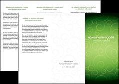 creation graphique en ligne depliant 3 volets  6 pages  vert vignette fonce MIF62184