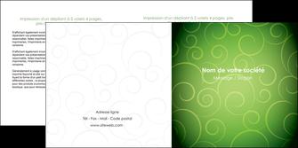 modele depliant 2 volets  4 pages  vert vignette fonce MLIG62188