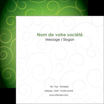 creation graphique en ligne flyers vert vignette fonce MIF62190