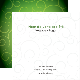 creation graphique en ligne flyers vert vignette fonce MLGI62190