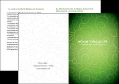 exemple depliant 2 volets  4 pages  vert vignette fonce MLGI62198
