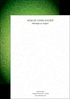 personnaliser modele de affiche vert vignette fonce MIF62200