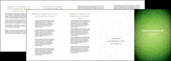 modele en ligne depliant 4 volets  8 pages  vert vignette fonce MIF62202