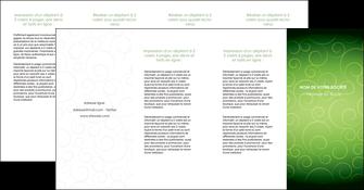 creer modele en ligne depliant 4 volets  8 pages  vert vignette fonce MIF62206