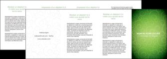 exemple depliant 4 volets  8 pages  vert vignette fonce MLIG62208