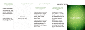 exemple depliant 4 volets  8 pages  vert vignette fonce MLGI62208