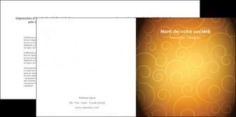 imprimerie depliant 2 volets  4 pages  bijouterie dore abstrait abstraction MIF62240