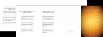 creer modele en ligne depliant 4 volets  8 pages  bijouterie dore abstrait abstraction MLIG62254