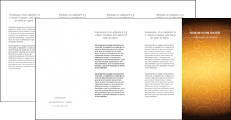 exemple depliant 4 volets  8 pages  bijouterie dore abstrait abstraction MIF62258
