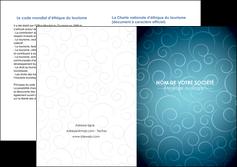 realiser depliant 2 volets  4 pages  abstrait arabique design MLGI62302