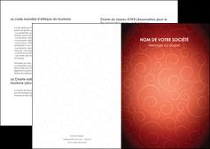 maquette en ligne a personnaliser depliant 2 volets  4 pages  rouge couleur couleurs MLGI62382