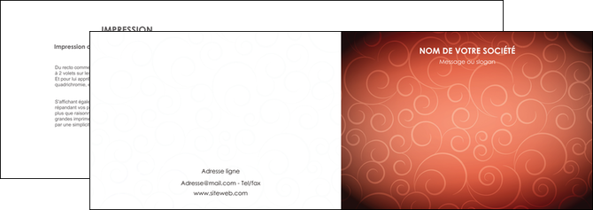 faire depliant 2 volets  4 pages  rouge couleur couleurs MLGI62392