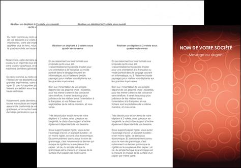 impression depliant 3 volets  6 pages  rouge couleur couleurs MLGI62402