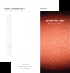 imprimerie depliant 2 volets  4 pages  rouge couleur couleurs MLGI62404