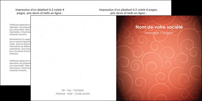 imprimer depliant 2 volets  4 pages  rouge couleur couleurs MLGI62406