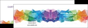 maquette en ligne a personnaliser carte de visite graphisme arc en ciel bleu abstrait MIF62442