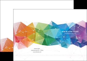 imprimerie pochette a rabat graphisme arc en ciel bleu abstrait MIF62446