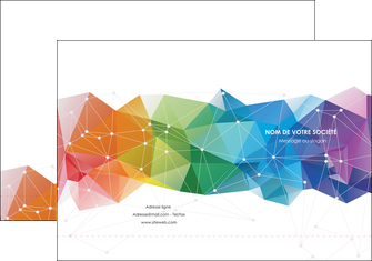 creer modele en ligne pochette a rabat graphisme arc en ciel bleu abstrait MLGI62448