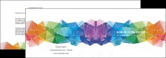 imprimerie depliant 2 volets  4 pages  graphisme arc en ciel bleu abstrait MLGI62450