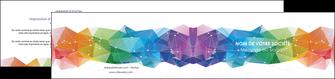 faire depliant 2 volets  4 pages  graphisme arc en ciel bleu abstrait MIF62470