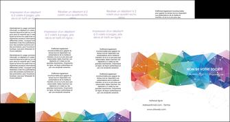 creer modele en ligne depliant 4 volets  8 pages  graphisme arc en ciel bleu abstrait MLGI62480