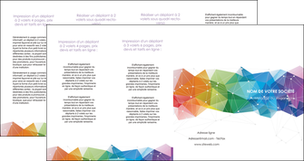 creer modele en ligne depliant 4 volets  8 pages  graphisme arc en ciel bleu abstrait MIF62480