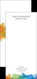 creer modele en ligne flyers graphisme arc en ciel bleu abstrait MIF62484