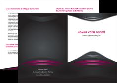 maquette en ligne a personnaliser depliant 2 volets  4 pages  gris rose vintage MLGI62660