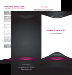 realiser depliant 2 volets  4 pages  gris rose vintage MLGI62682