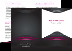 modele en ligne depliant 2 volets  4 pages  gris rose vintage MLGI62694