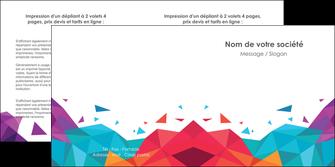 impression depliant 2 volets  4 pages  couleur couleurs colore MIF62736