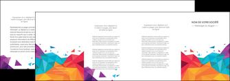 personnaliser maquette depliant 4 volets  8 pages  couleur couleurs colore MIF62748
