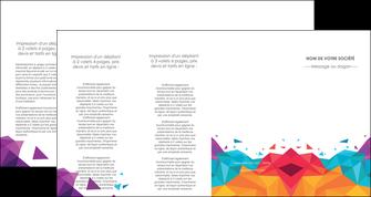 faire modele a imprimer depliant 4 volets  8 pages  couleur couleurs colore MIF62752