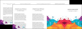 personnaliser modele de depliant 4 volets  8 pages  couleur couleurs colore MIF62754