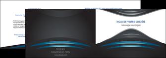 exemple depliant 2 volets  4 pages  gris bleu couleurs froides MLIG62782